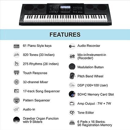 Casio wk7600 – Teclado 76 teclas: Amazon.es: Instrumentos ...