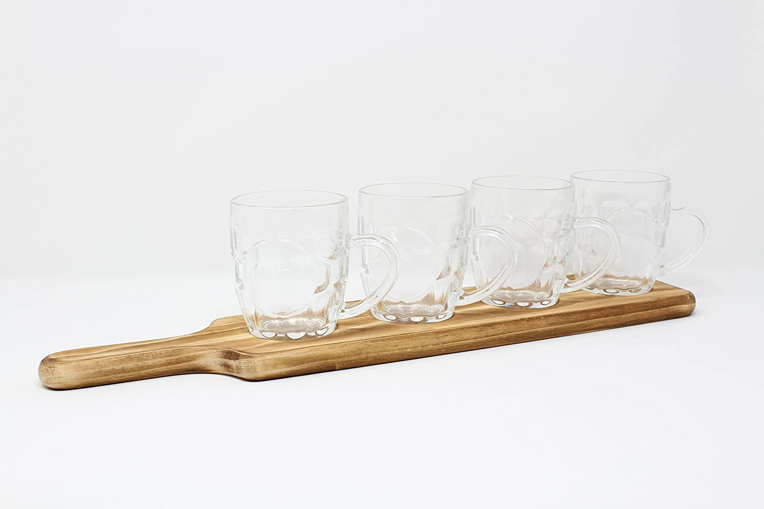 Beer Glass Paddle Board Beer Tasting Set 4 glasses Transomnia