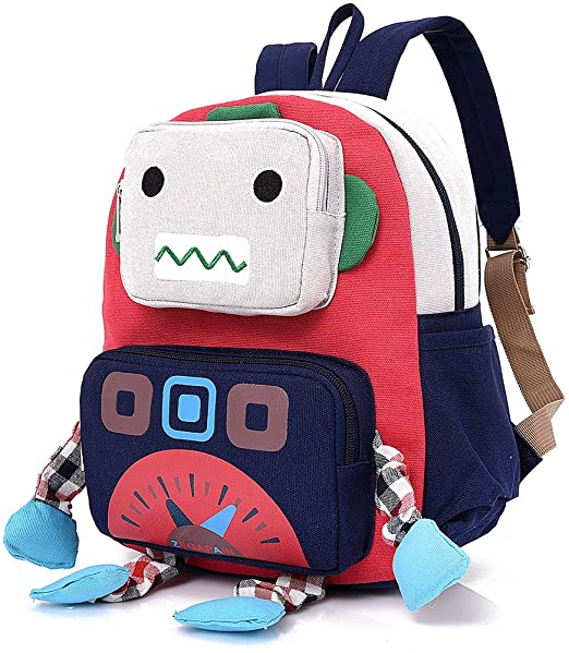 amazon com infant kid backpack with leash robot boy with strap
