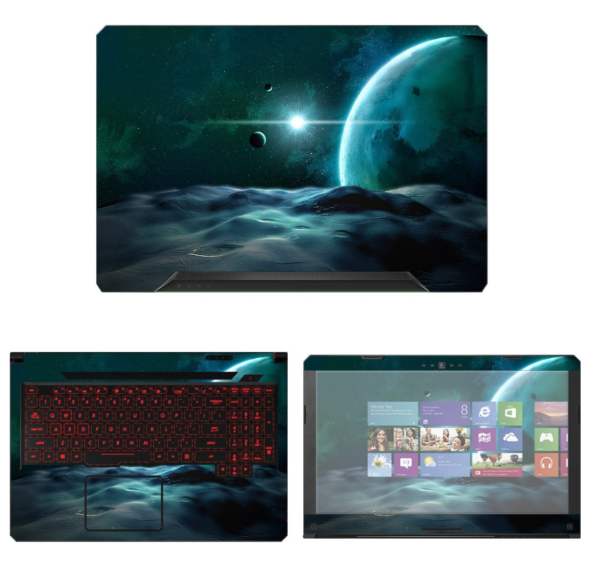 decalrus Protective Decal Space Skin Sticker for Asus TUF Gaming Laptop FX504 (15.6'' Screen) case cover wrap AStuf15_Fx504-152