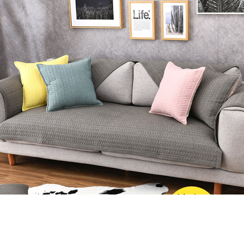 Amazon.com: KFHIWUEHPJHD Solid Color Cotton slipcover Sofa ...