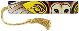 product image for Celtic Barn Owl - Art by Christi Sobel on Solid Wooden Bookmark with Tassel