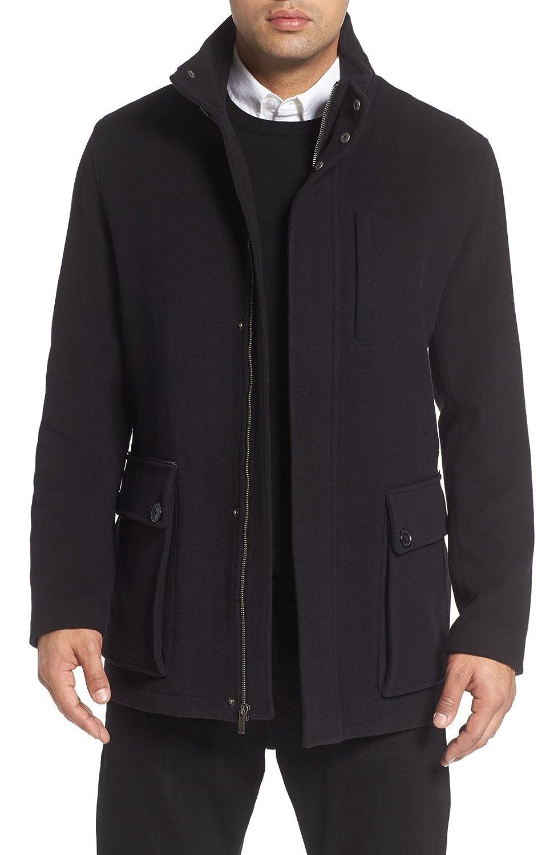 コールハーン アウター ジャケットブルゾン Cole Haan Wool Blend Car Coat Black [並行輸入品] B078YSX7NY  XX-Large