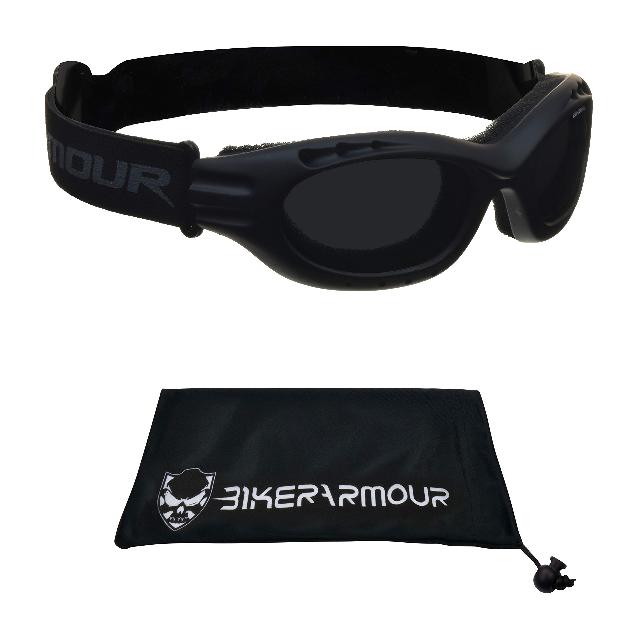 Motorcycle Polarized Goggles for Men and Women. Anti Glare Clear Vision (Black Polarized Smoke)