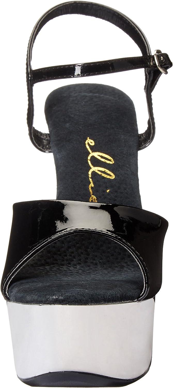 Ellie Shoes Womens 609-CHROME Platform Sandal