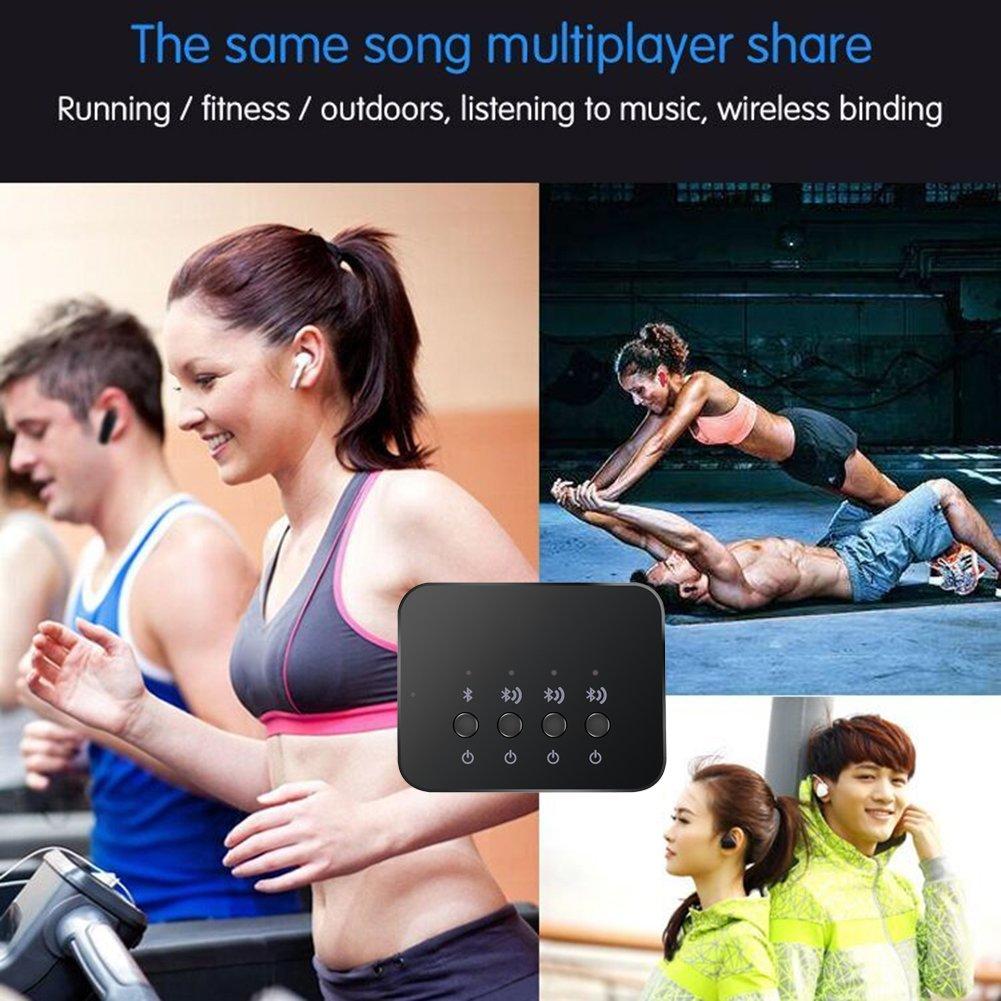 Laptop Tonysa Adaptador de Audio Bluetooth 4.0 Est/éreo Adaptador de Audio Compartir Musica Sin Hilos en el Sistema de Sonido de Streaming con TV
