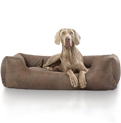 Knuffelwuff 13987 – 003 Terciopelo Cama para Perros, Perro Almohada, sofá, Perros Perro