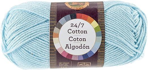 Lion Brand Yarn Company Hilo de algodón, 100% algodón, Aqua ...
