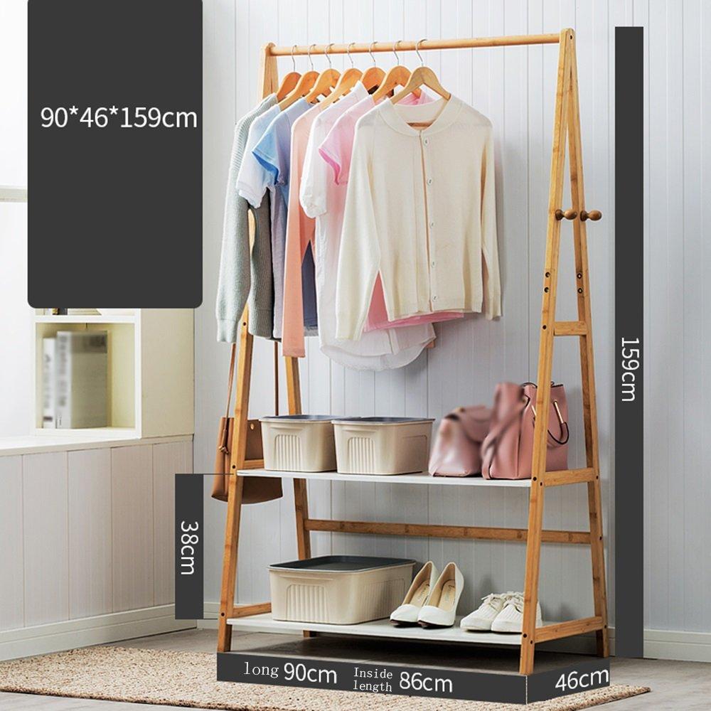 Clothes hat shelf Perchero de bambú laminar Blanco/Perchero ...