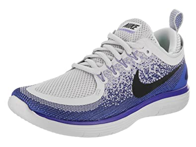 500d4d212b9a Image Unavailable. Image not available for. Color  NIKE Women s Free Rn  Distance 2 Pure Platinum Black White Running Shoe ...