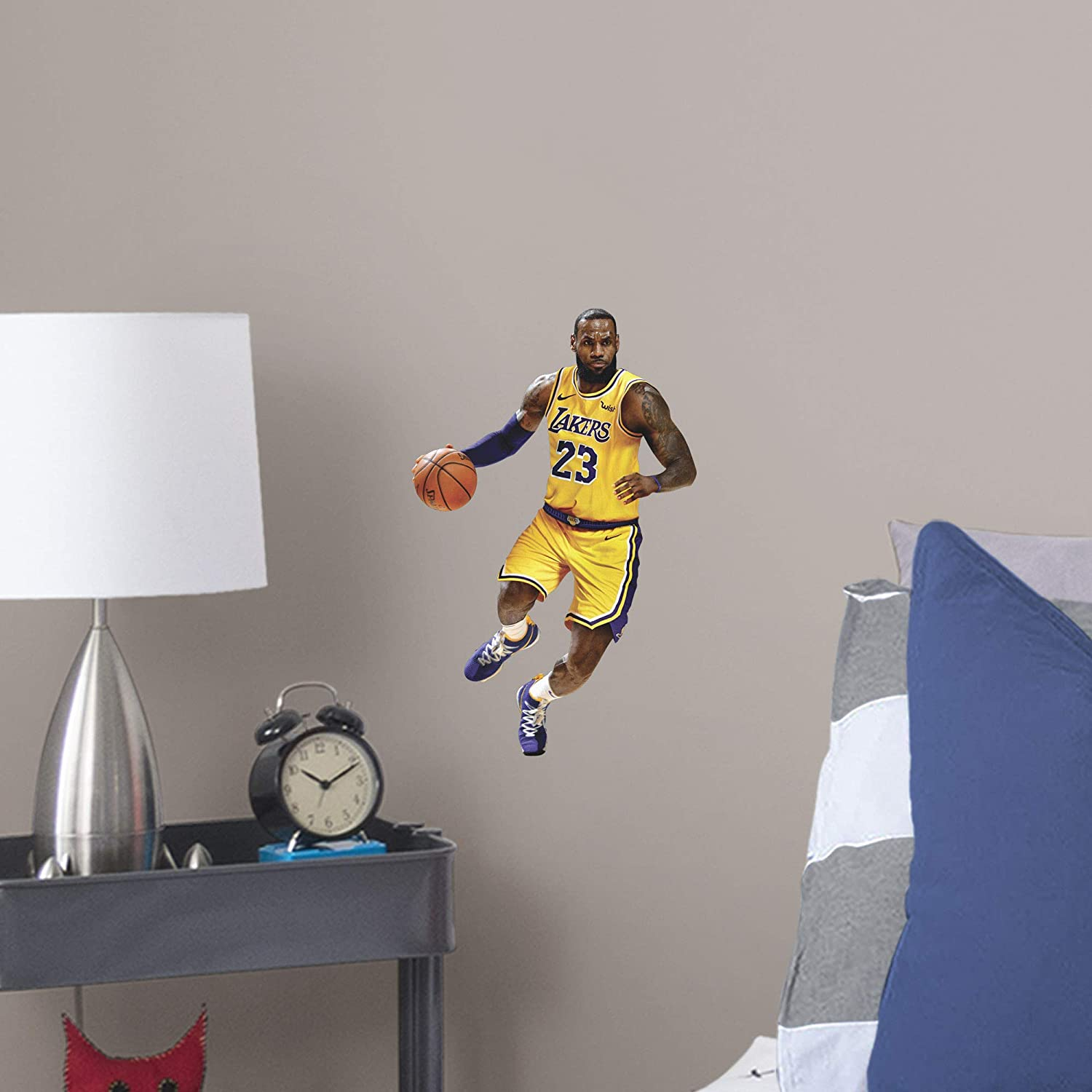 FATHEAD NBA Los Angeles Lakers Lebron James Lebron James- Officially Licensed Removable Wall Decal