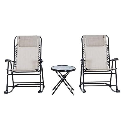 Amazon.com: Juego de 3 piezas de sillón plegable de malla ...