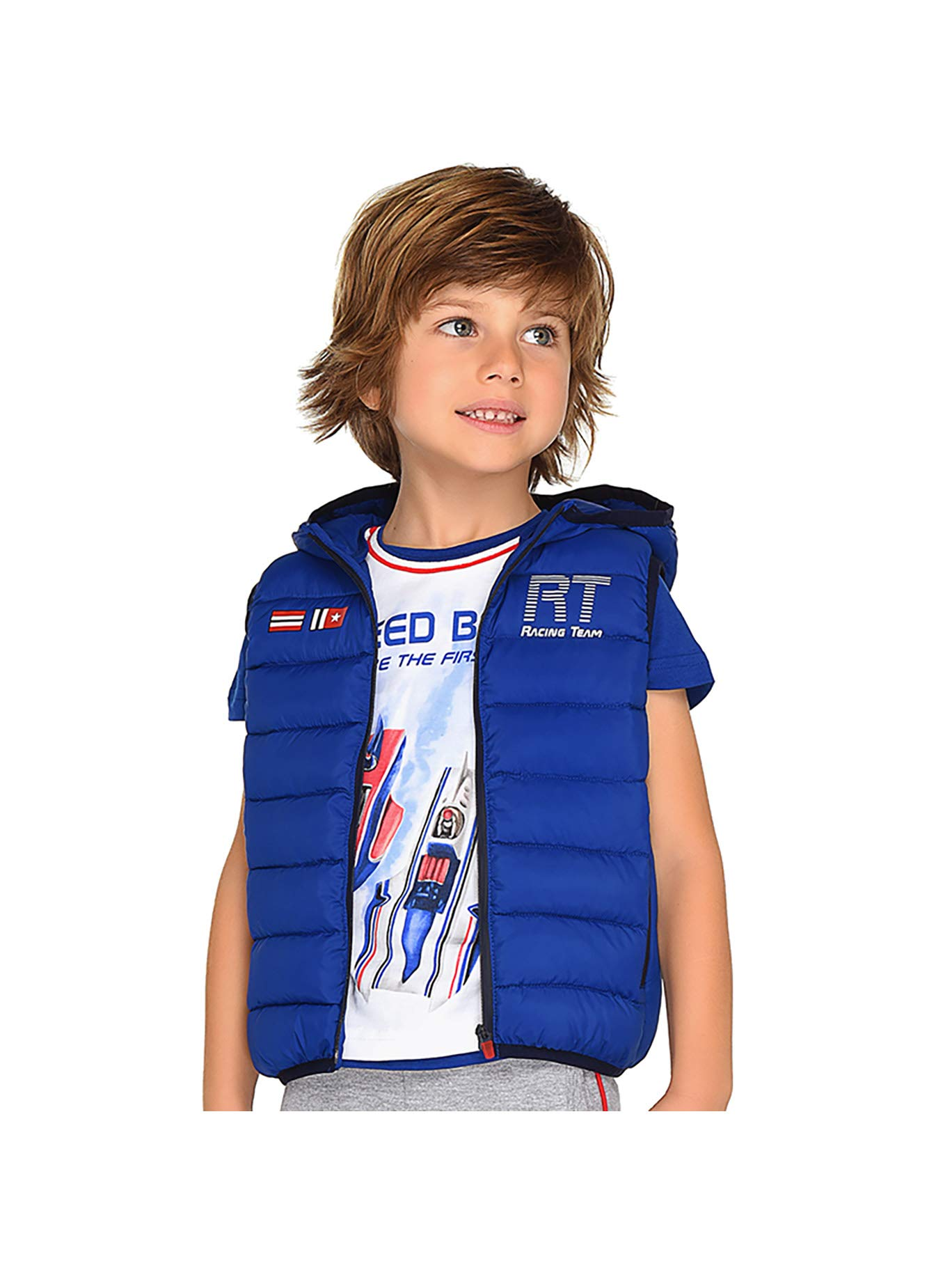 Mayoral 29-03312-016 - Padded Vest for Boys 2 Years Royal Blue