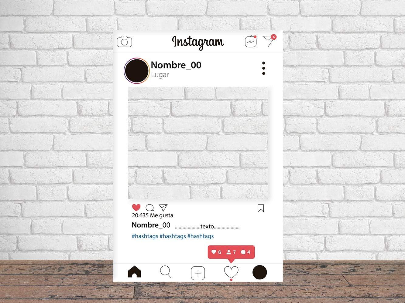 Photocall Instagram 2019 80 x 100 cm   Regalos para Cumpleaños   Photocall Económico y Original   Ideas para Regalos   Regalos Personalizados de Cumpleaños  