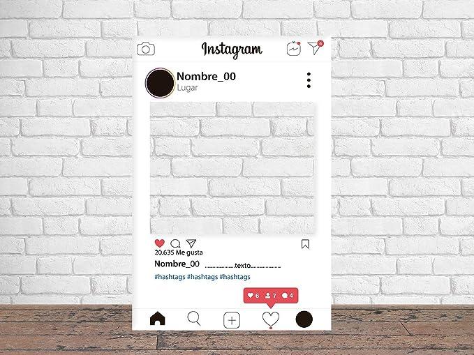 Photocall Instagram 2019 80 x 100 cm | Regalos para Cumpleaños | Photocall Económico y Original | Ideas para Regalos | Regalos Personalizados de ...