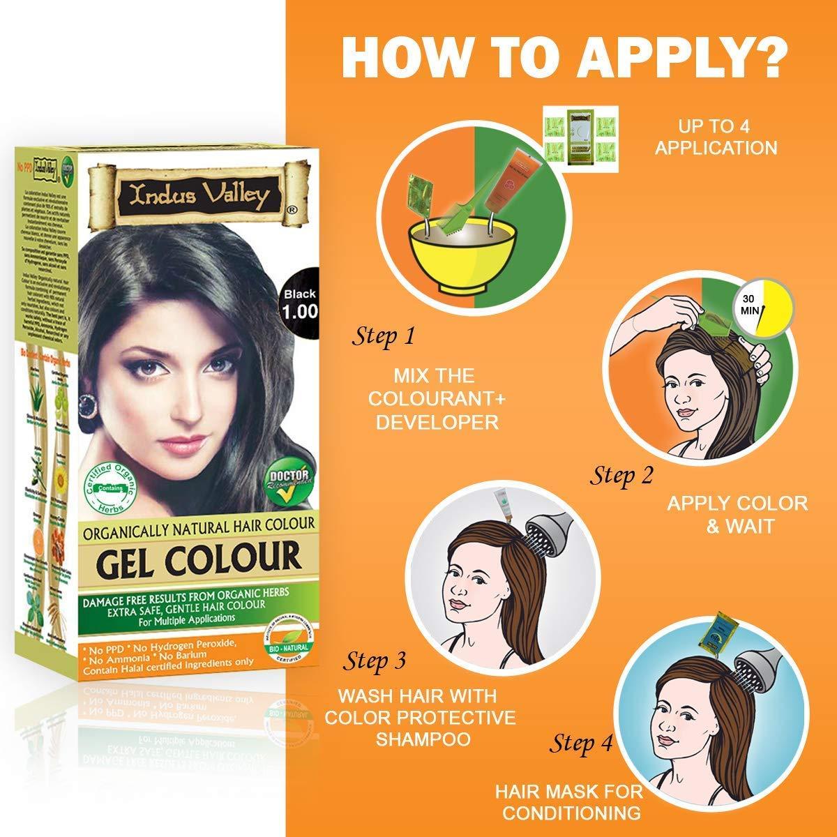Amazon.com: Indus Valley permanente Kit de color: negro de ...