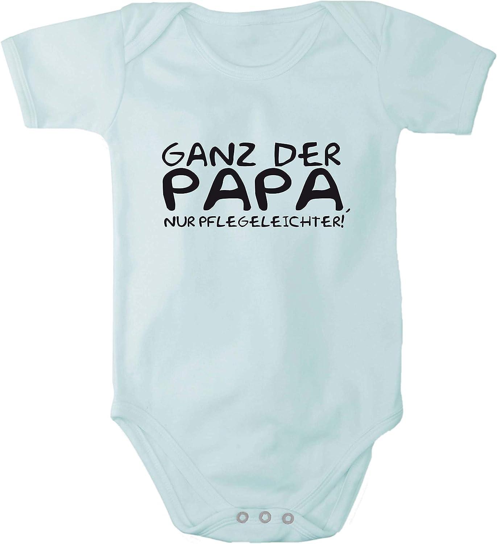 Fabio Farini Baby Body Bedruckt lustiger Spruch Ganz der Papa 100/% Baumwolle