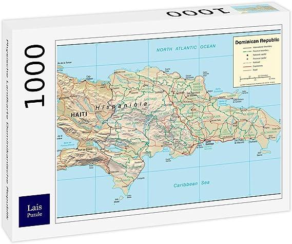 Lais Puzzle Mapa físico de la República Dominicana 1000 Piezas: Amazon.es: Juguetes y juegos