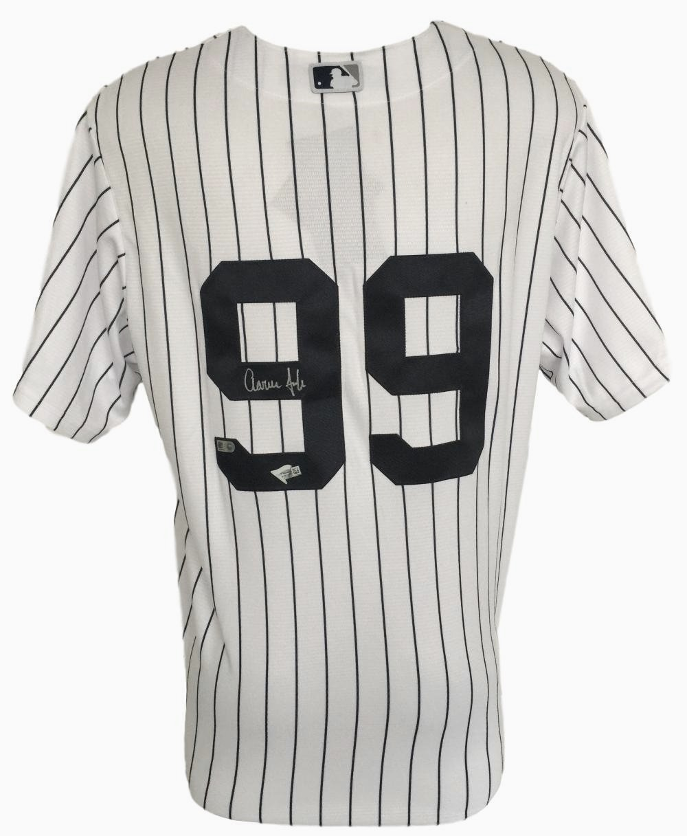 huge selection of 00233 1e8f2 Aaron Judge Signed New York Yankees Majestic Cool Base ...