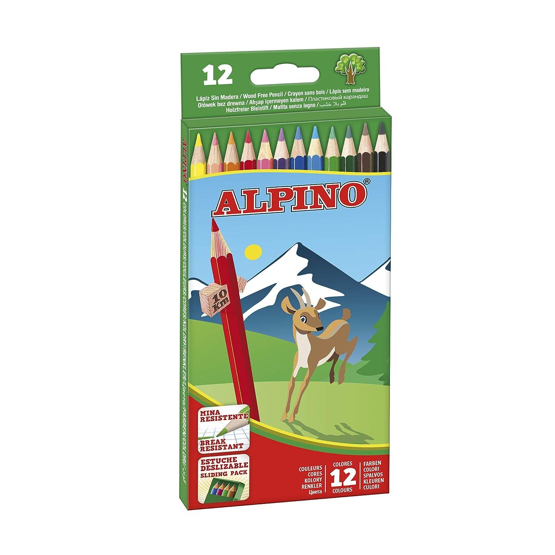 Amazon.com : Alpino 722838 - Coloured Pencils, Wallet of 12 ...