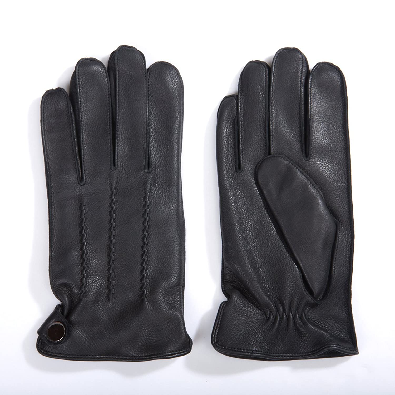 Mens gloves fashion - Matsu Men Winter Warm Deerskin Leather 100 Cashmere Lined Motorcycle Driving Dress Leather Gloves M1066 At Amazon Men S Clothing Store