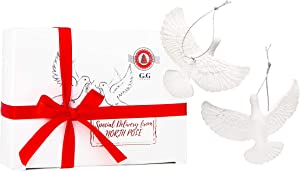 G&G Style Friendship Doves -Home Alone 2. Christmas Ornament Set of Two Doves. Best Gift for Someone Special.