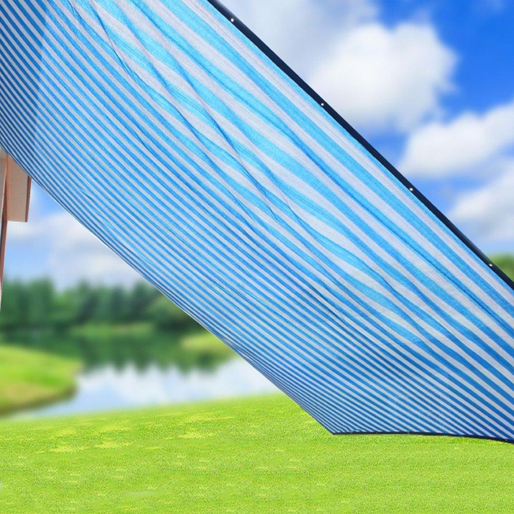 PENGFEI シェードネット サンシェード ターポリン ガーデニング用品 暗号化 バルコニー 多肉植物 シェード 日焼け止め 通気性のある 絶縁 ポリエチレン (色 : ブルー+ホワイト, サイズ さいず : 2x4m) B07DB3Q98S 2x4m|ブルー+ホワイト ブルー+ホワイト 2x4m