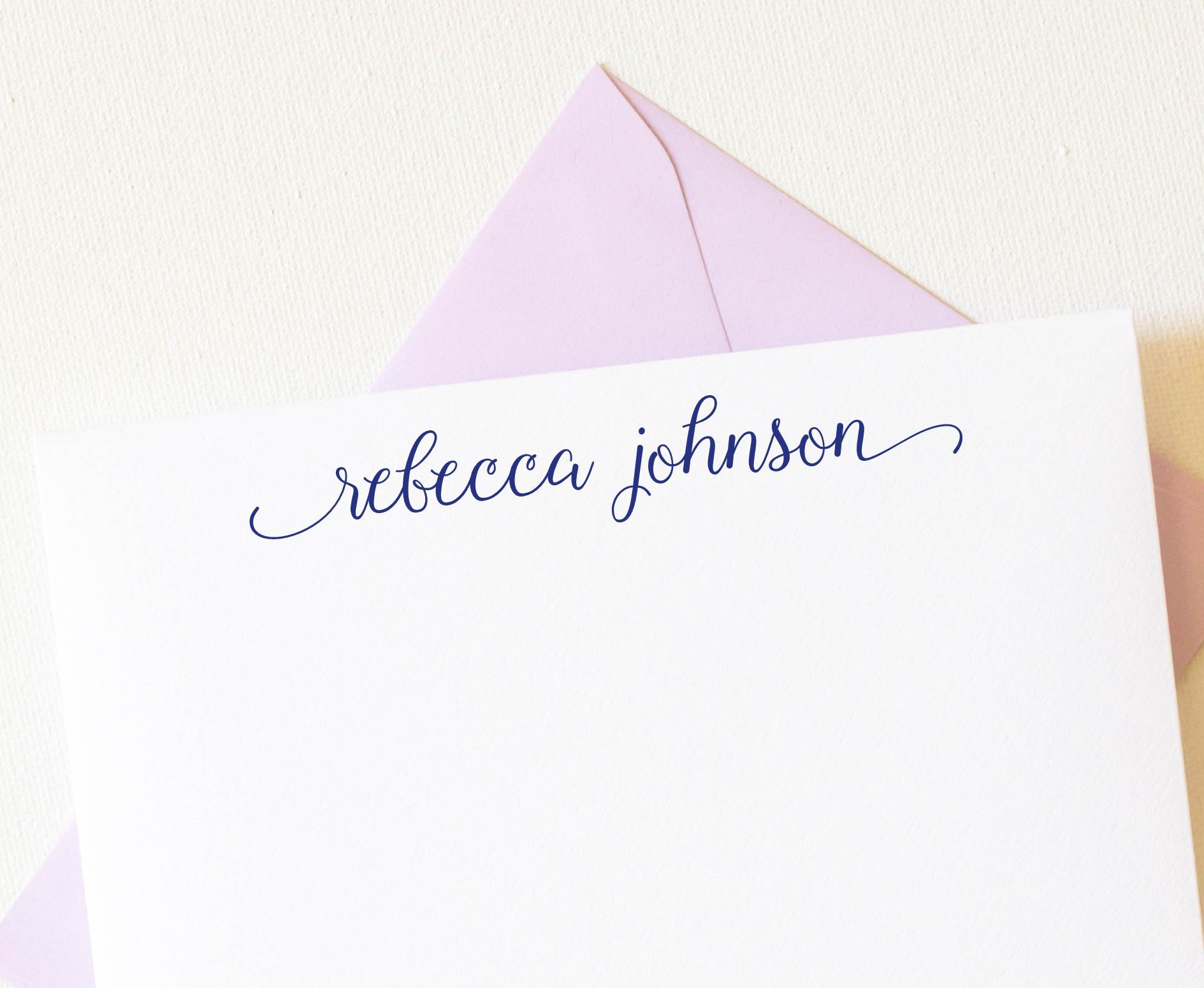 Stationary Paper and Envelopes Set, Calligraphy, Personalized Stationery Set, 10 note cards envelopes
