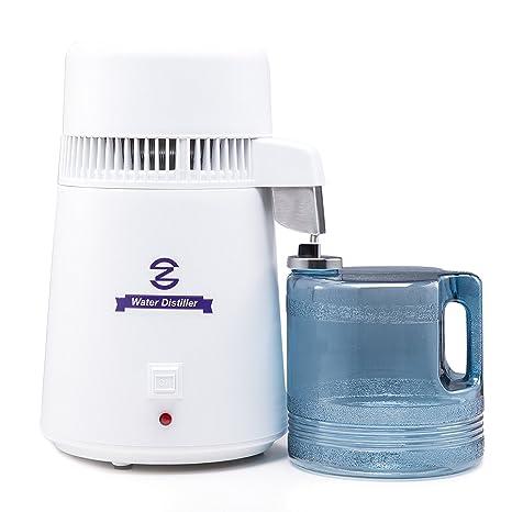 CO-Z - Máquina destiladora de agua, de 4 litros, con botella de