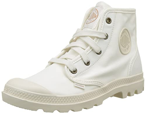 Womens Pampa High-Top Sneakers, Sahara/Ecru Palladium
