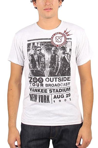 U2 - el Zoo Hombres en Dehors Visita - Camiseta de Heather White - Gris Large: Amazon.es: Ropa y accesorios