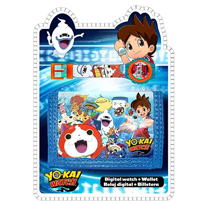 Amazon.com: Yo-Kai Digital Watch&Wallet,Children Watch,Kids Watch,Official Licensed,Gift Set: Toys & Games