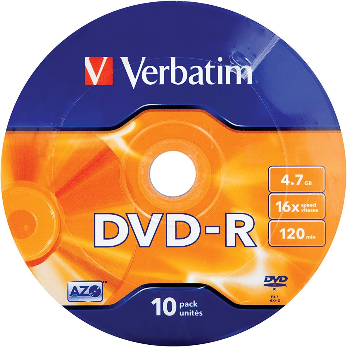 Verbatim 43729 Blank Dvd 4 7 Gb Computers Accessories