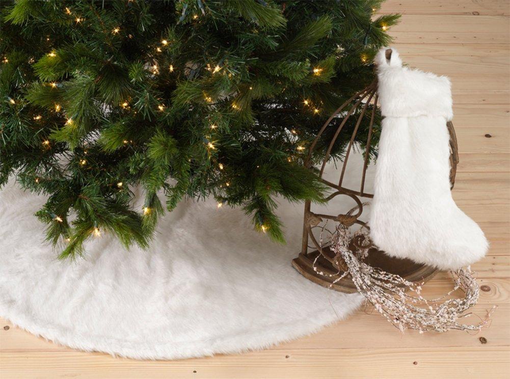 Amazon.com: Noël Blanc Faux Fur Design White Holiday Christmas ...