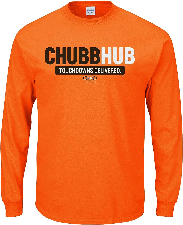 Chubbhub Chubb-Hub Smack Apparel Cleveland Football Fans Brown or Orange T-Shirt