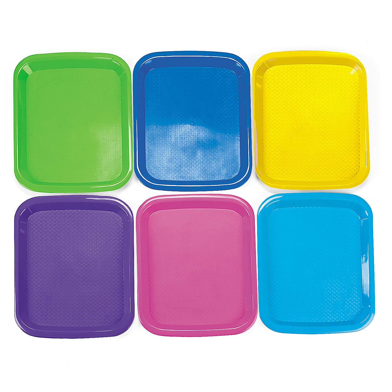 Fun Express - Cool Craft Trays - Craft Supplies - Kids Beading - Beading Supplies - 6 Pieces by Fun Express