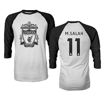 0d5c3518dbb Tcamp Liverpool  11 Mohamed SALAH Premier League Men s Quarter Sleeve  Raglan T-Shirt (