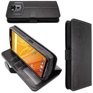 caseroxx Funda Tipo Libro para Ulefone Power 5 / Power 5s, Carcasa con Flip para el Smartphone (Flip Case en Negro)