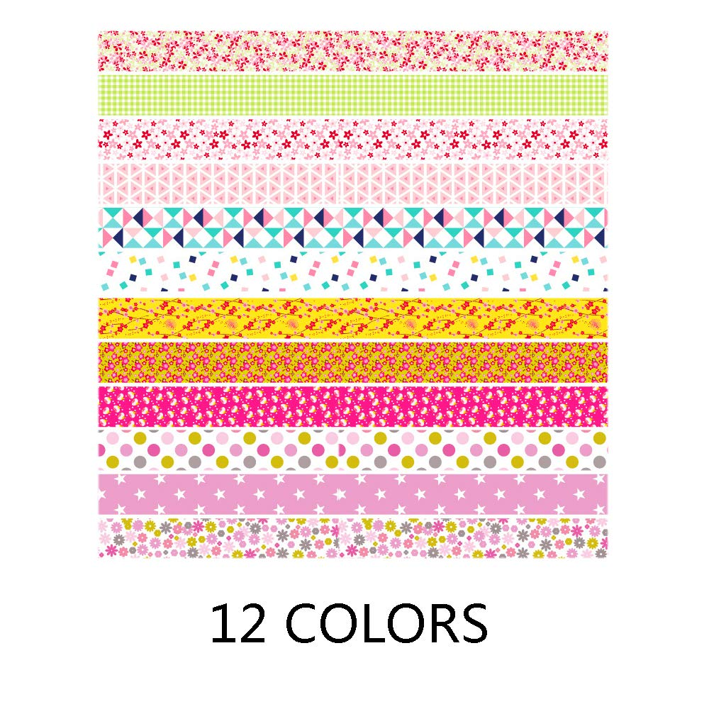 12 Different Floral Patterns,Width 5mm Paper Quilling Set 600 Strips