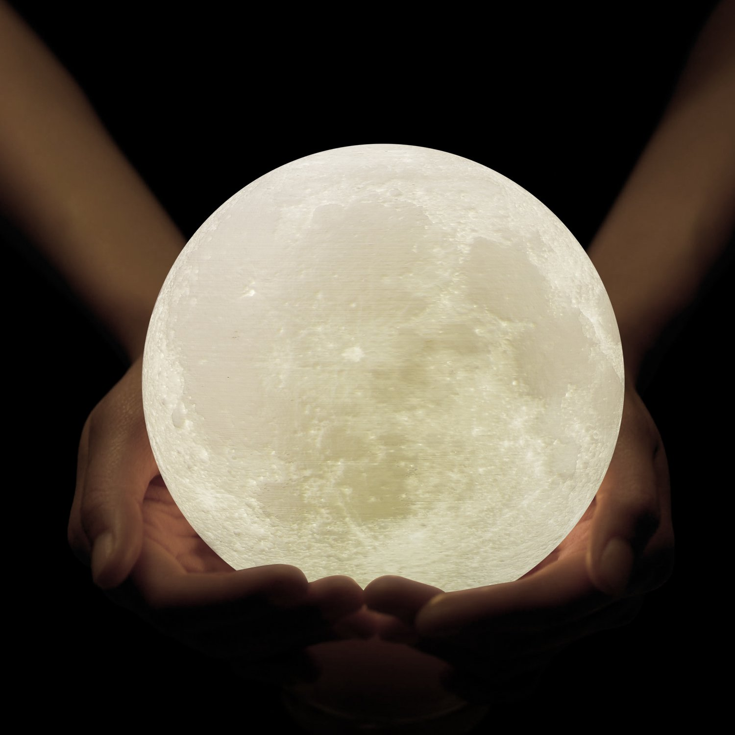Amazon gpjoy moon lamp 3d printing moon night light gpjoy moon lamp 3d printing moon night light rechargeable lunar night light dimmable touch control arubaitofo Image collections