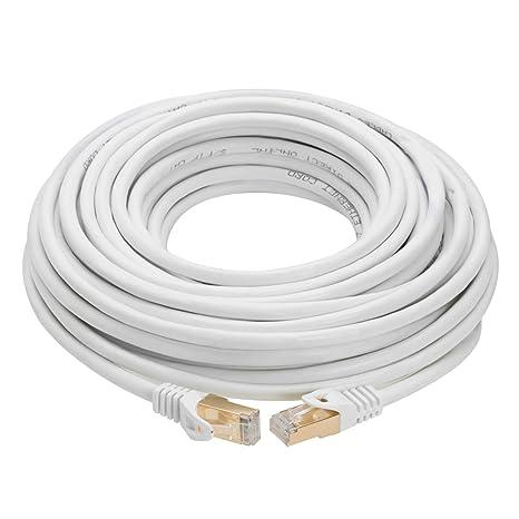 Amazon.com: Cable de red Ethernet RJ45 blindado chapado en ...