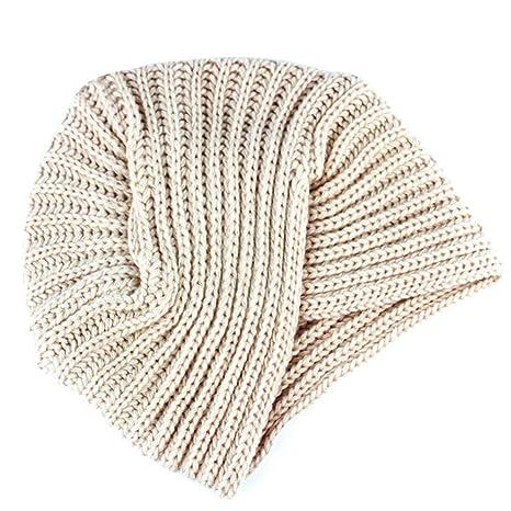 Ssowun Berretto Turbante a maglia di lana cappello indiano donna inverno cf448b4ed1b2