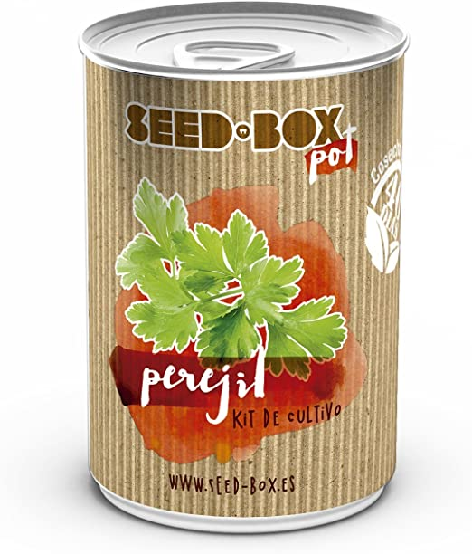 SeedBox SBLPE-Lata de Cultivo, perejil, Verde, 12x25x8 cm: Amazon ...