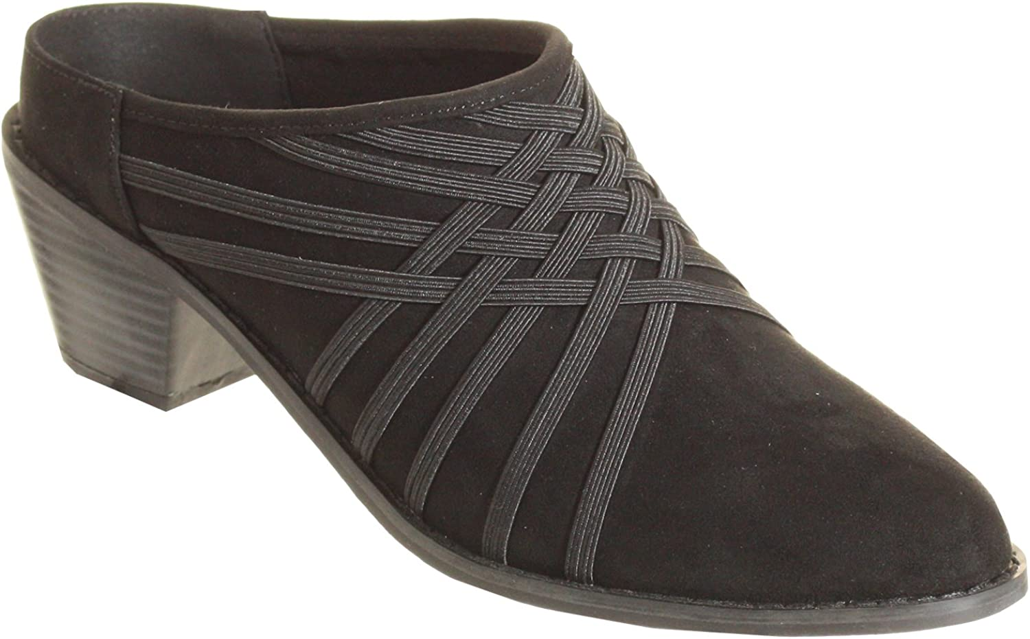 Zee Alexis Womens Melissa Clog Shoes Black