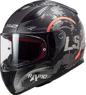 Detalles de LS2 FF353 rapid Integral Motocicleta Casco Negro Mate Con Visera Iridium Oro