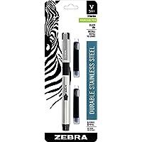 Zebra Pen, Pluma fuente con repuesto, punta de acero inoxidable Zebra V-301