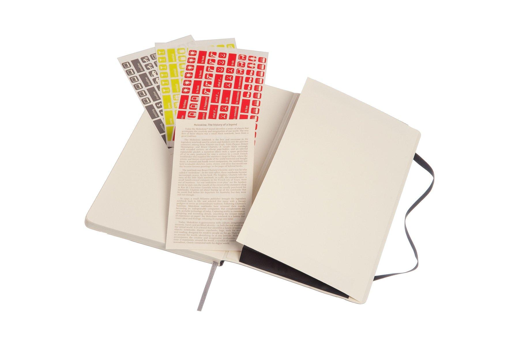 moleskine 2016 2017 weekly notebook 18m large black soft cover moleskine 2016 2017 weekly notebook 18m large black soft cover 5 x 8 25 moleskine 8051272893465 amazon com books