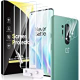 6 Pack HATOSHI 3 Pack Flexible Screen Protector + 3 Pack Camera Lens Protector Compatible with OnePlus 8 Pro 6.8-Inch, TPU Fi