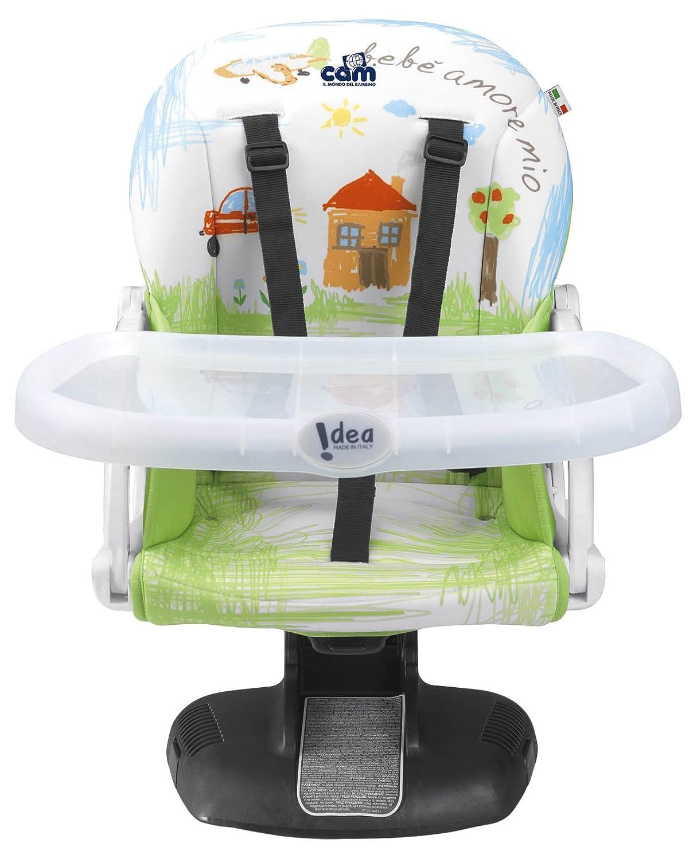Cam le monde de l'enfant rehausseurs de chaise S334Idée de la maison (Vert pomme) CAM Il Mondo del Bambino