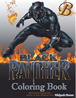 Black Panther Coloring Book Pages Suitable For Both Children Adults